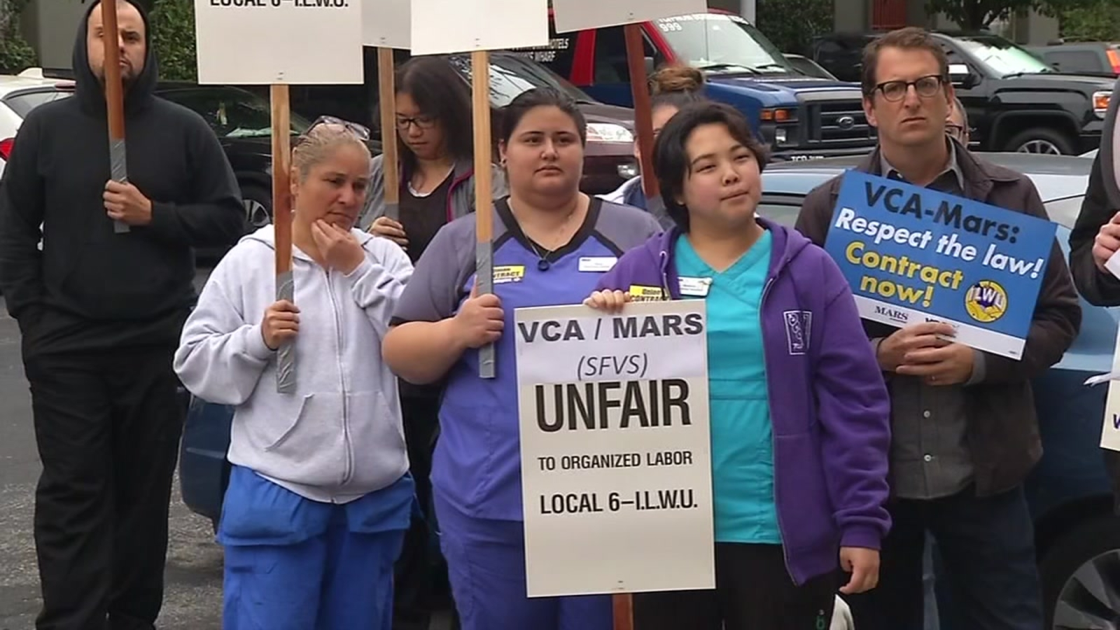 SF vet employees strike citing 'deplorable' working conditions