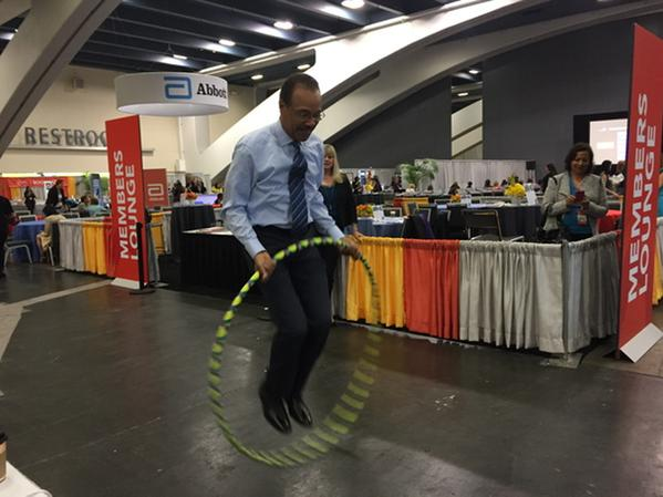 "<div class=""meta image-caption""><div class=""origin-logo origin-image kgo""><span>KGO</span></div><span class=""caption-text"">@Spencerabc7 hula-hooping to cheer for women at #PBWC! He's got moves! #OneLegacy. (ABC7/Krsiten Sze)</span></div>"