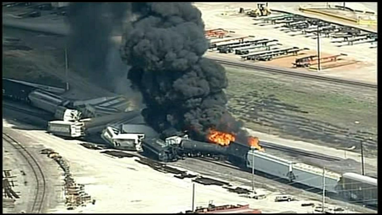 Dupo Illinois Train Derailment By Union Pacific Freight Train Causes Massive Fire