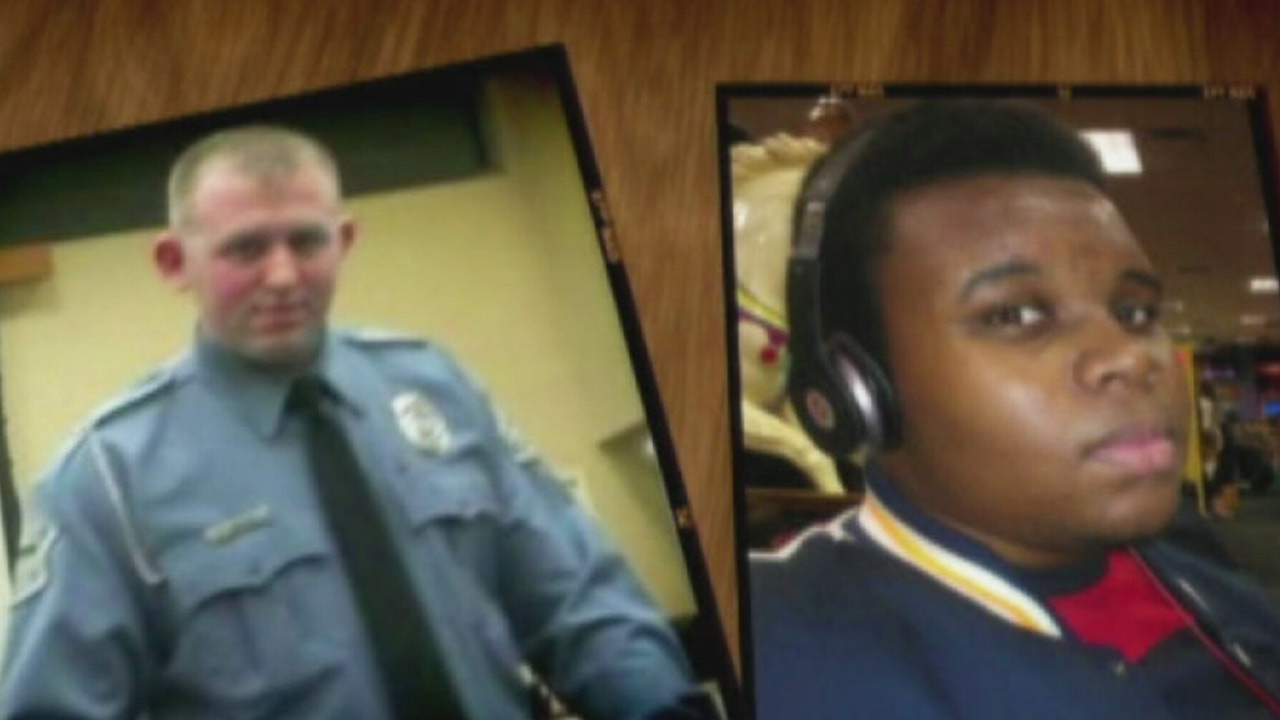 Ferguson police officer Darren Wilson (left), shot and killed Michael Brown (right) on Saturday, Aug. 9, 2014.