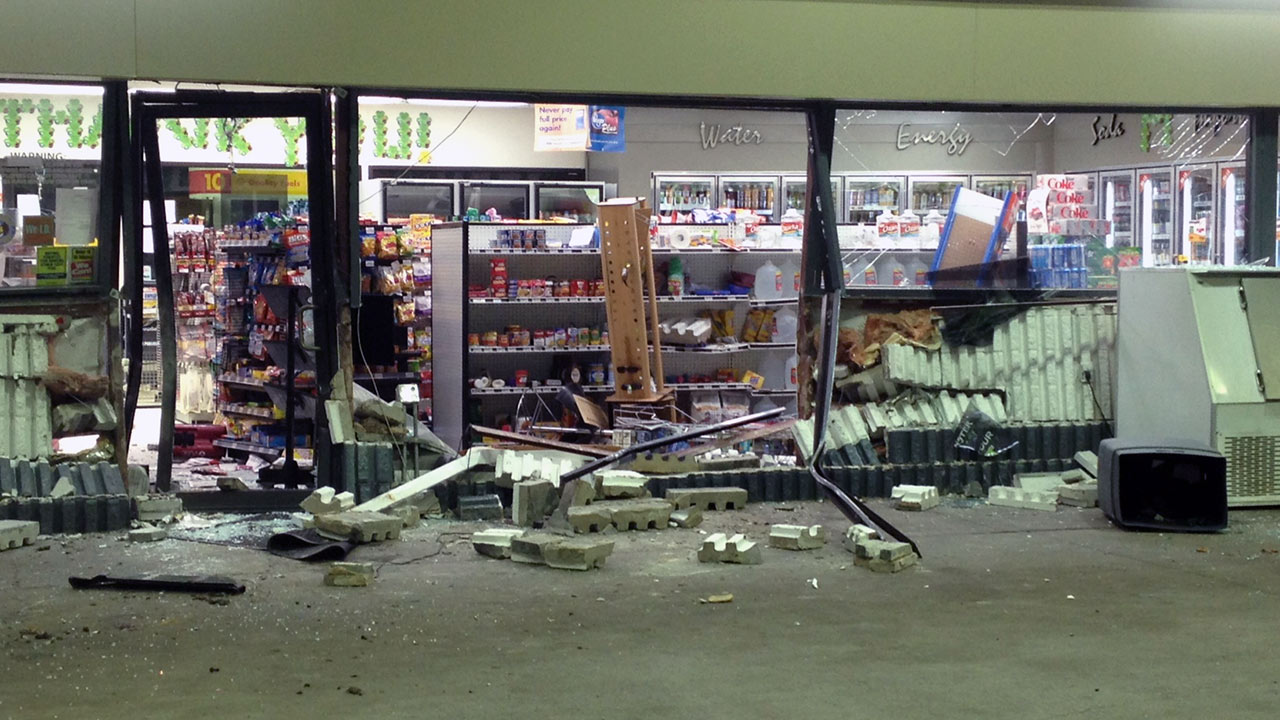 Damaged store