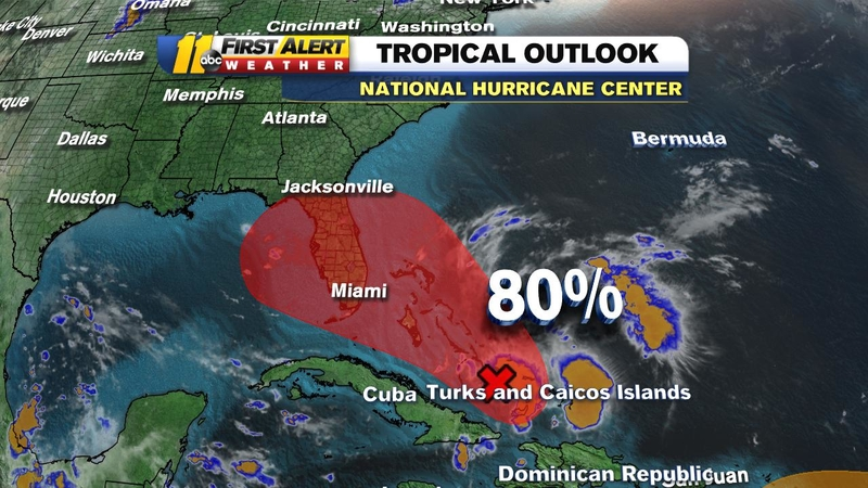 Storm in the Bahamas could become Tropical Storm Humberto