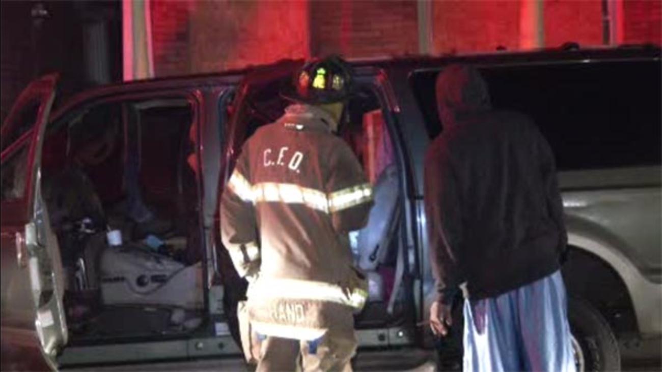 Suspicious car fire in Chester, Pa.