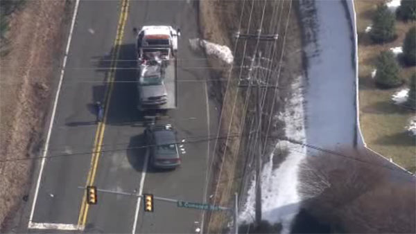 2 vehicles collide at intersection in West Chester, Pa.