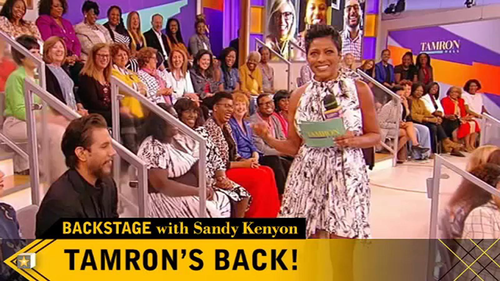 Backstage with Sandy Kenyon: Tamron Hall talks new ABC talk show