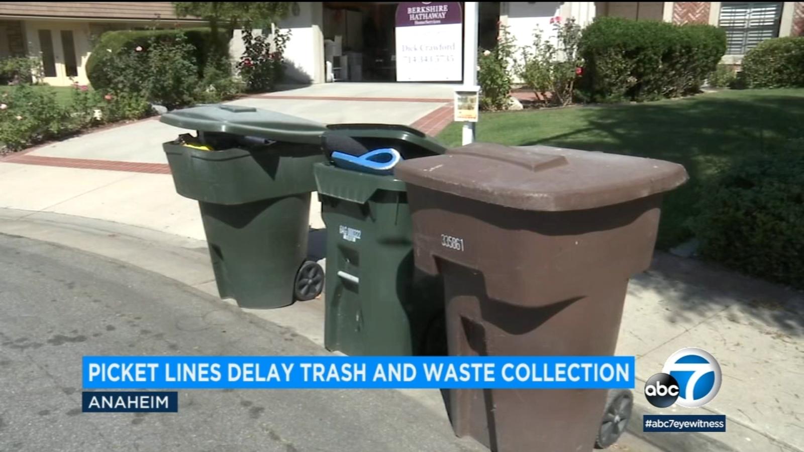 East Coast strike delays some waste pickup in Orange County