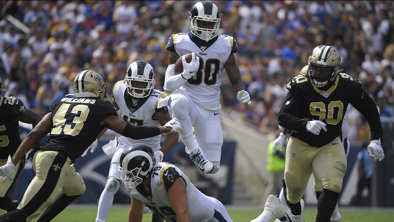 save off afb4e 98f27 Los Angeles Rams win 27-9 over New Orleans Saints   abc7.com
