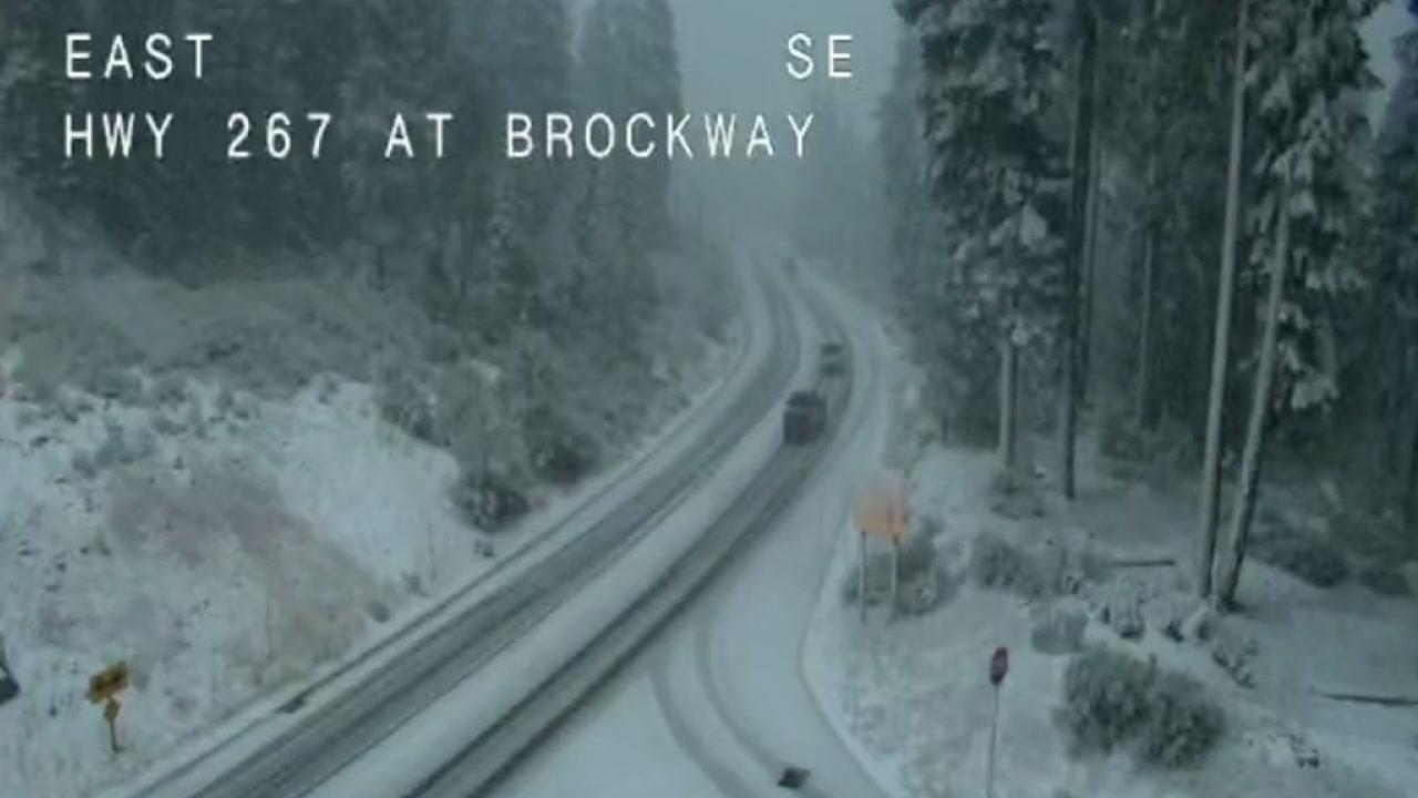 VIDEO: Snow falls on top of Sierra Nevada
