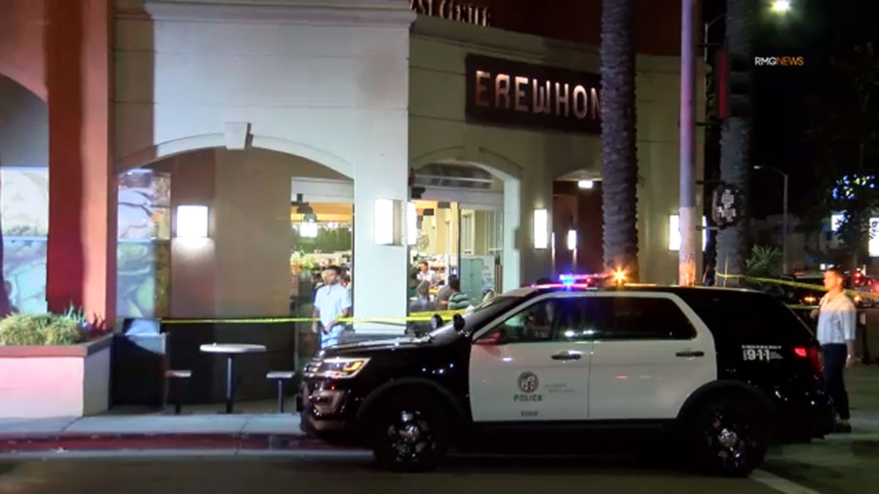 Shooting near The Grove leaves 2 men wounded, police say