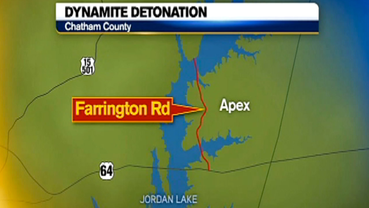 Dynamite Detonation in Chatham County graphic