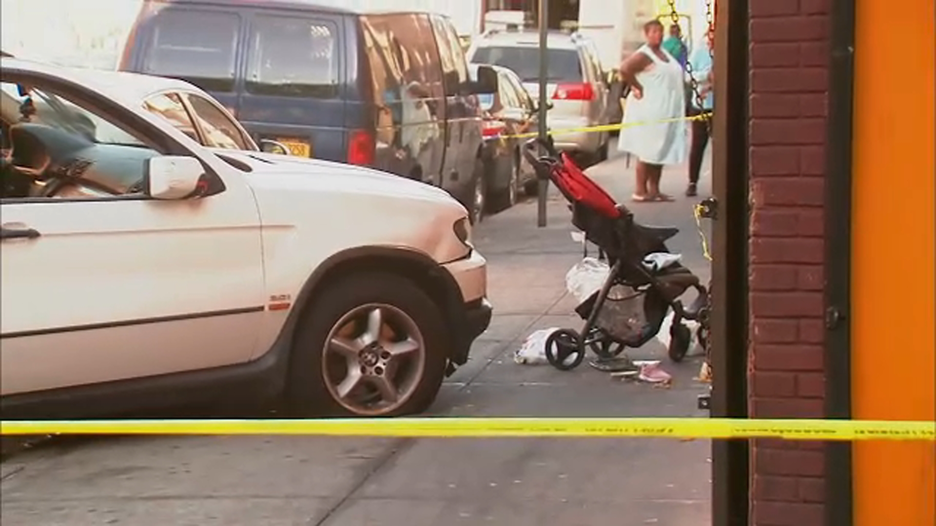 1-year-old dies after car jumps curb, strikes stroller in the Bronx; Driver in custody