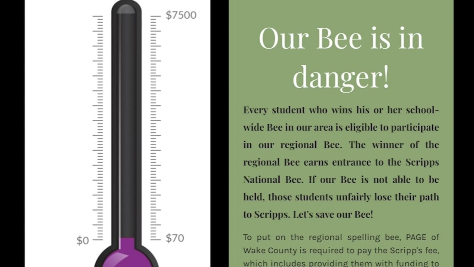 Wake County Spelling Bee in jeopardy after losing sponsor