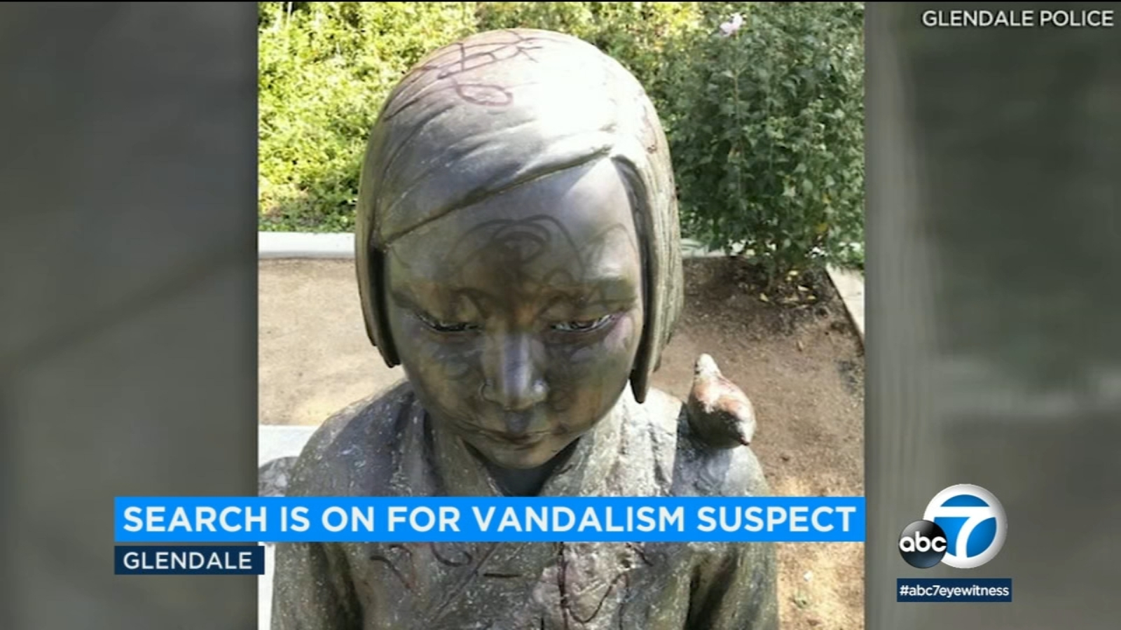 Glendale monument to WWII Korean comfort women vandalized again