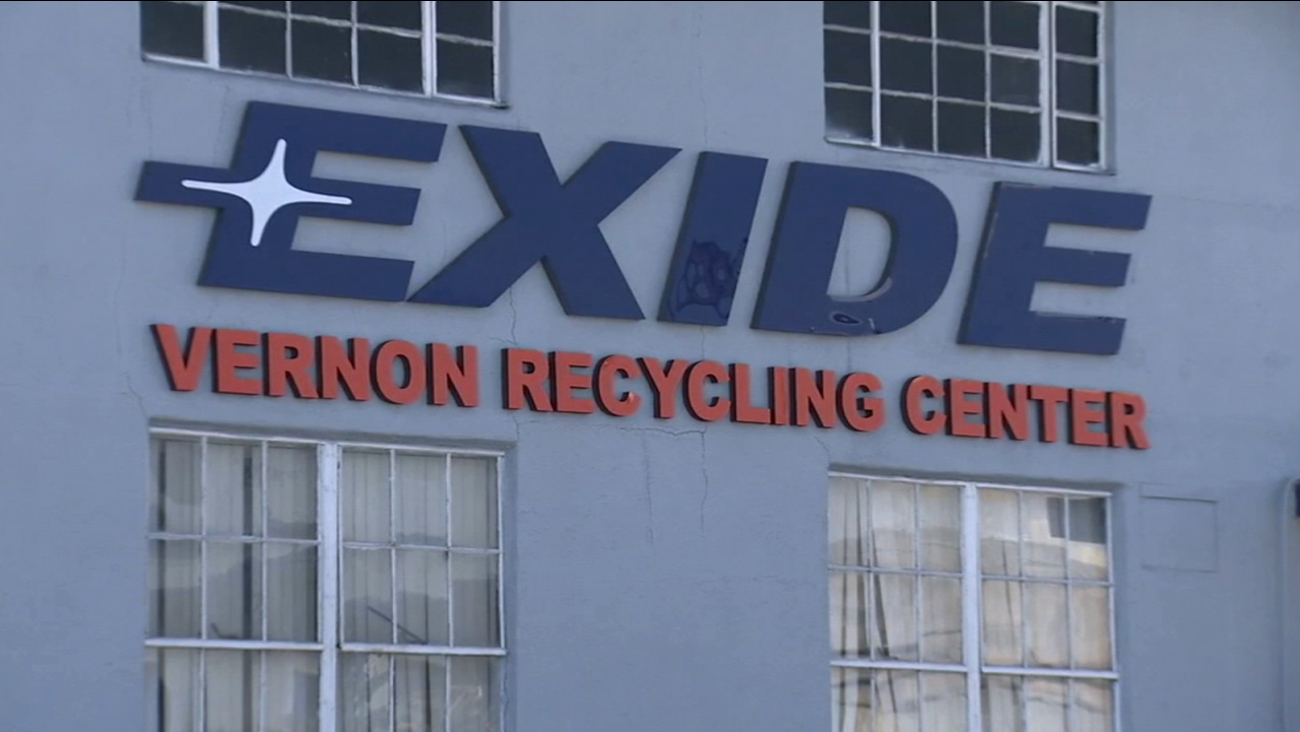 Exide's recycling center in Vernon is shown in this undated file photo.