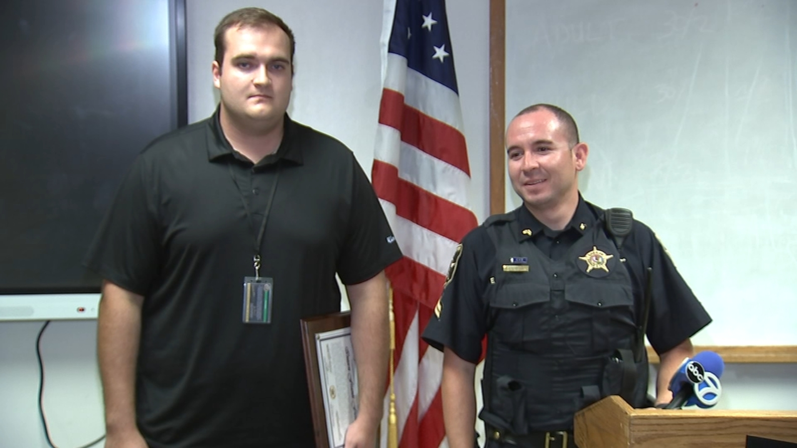 DuPage County Sheriff's Office intern honored for help in potentially dangerous situation