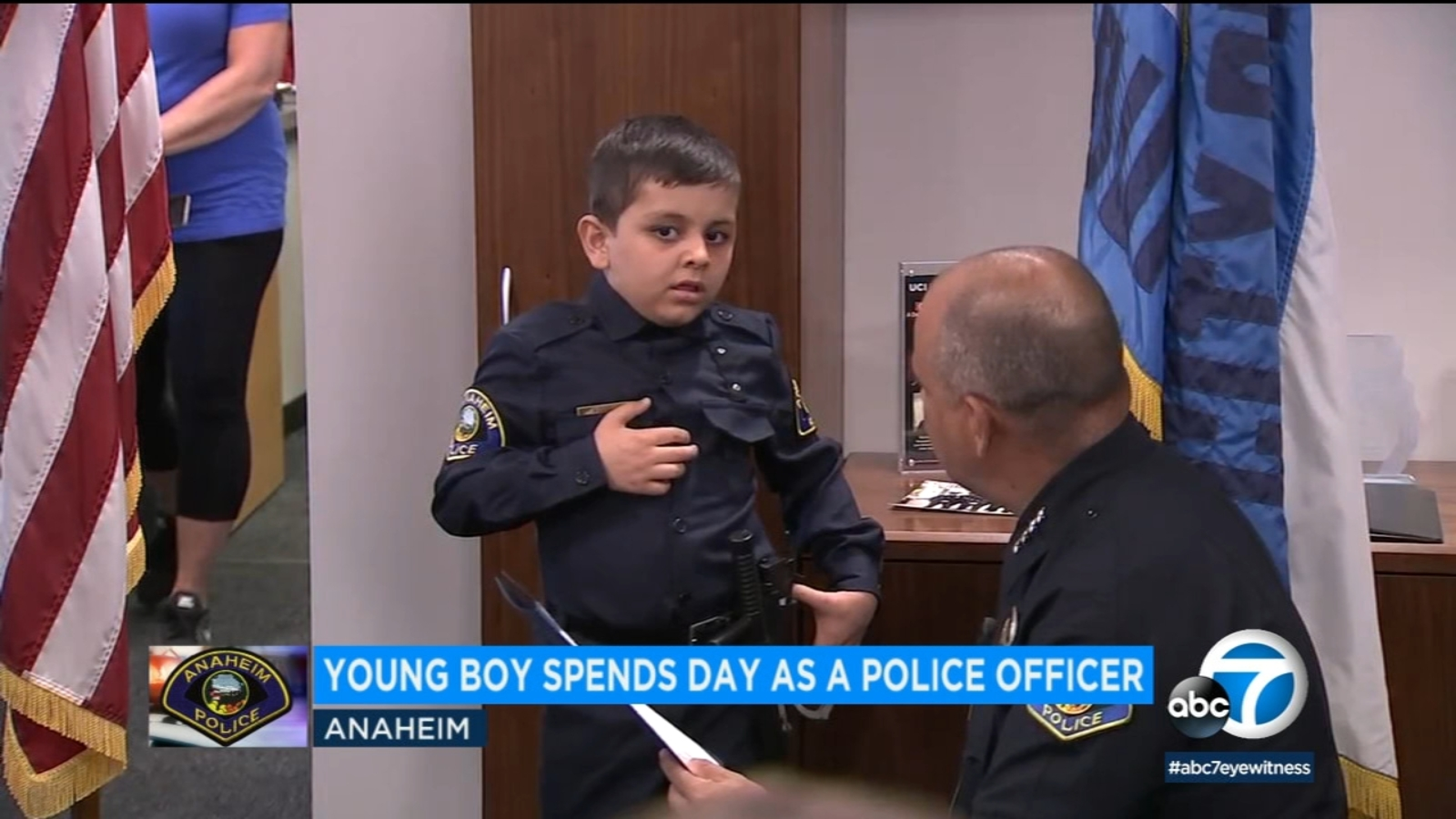 Anaheim boy battling leukemia gets to be cop for a day thanks to Make-A-Wish