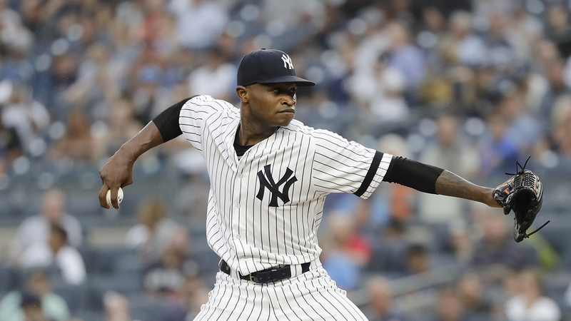free shipping a87b2 ccdb4 Yankees pitcher Domingo German placed on leave under MLB domestic violence  policy