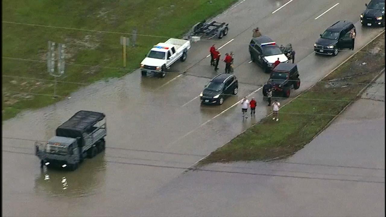 Man drowns as van sinks in 8 feet of floodwater