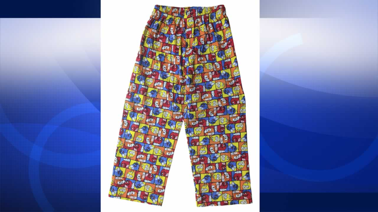 The Consumer Product Safety Commission says pajamas made by M&M's World are not flame resistant.