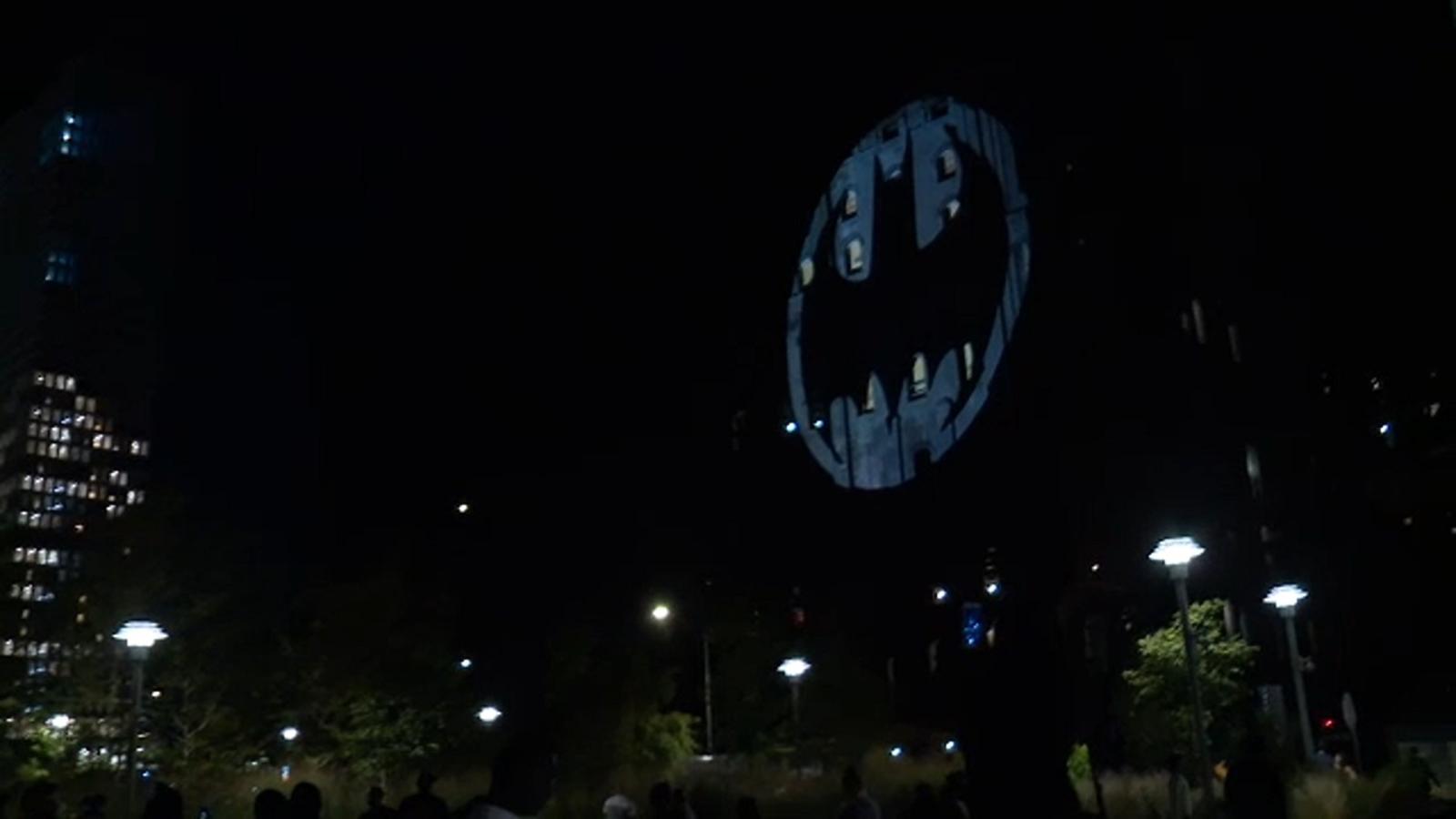 Bat Signal Lights Up The Night For Batman Day
