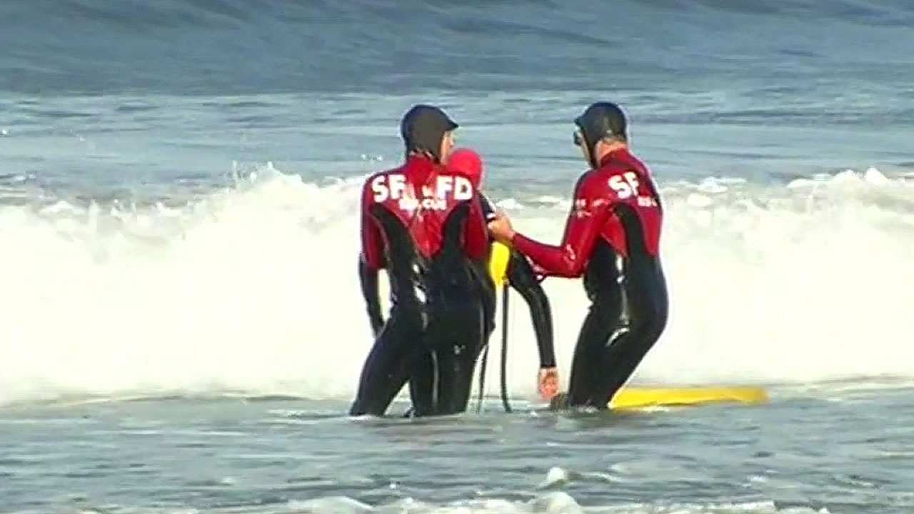 San Francisco Fire Department's new red and black wetsuits