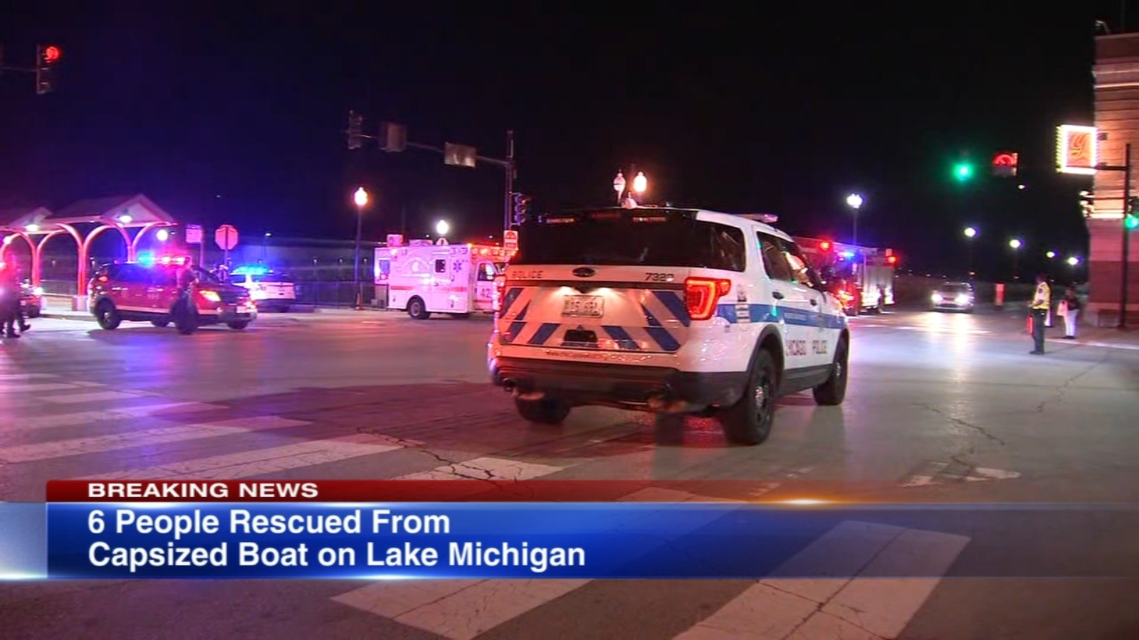 6 rescued from capsized boat near Navy Pier, officials say