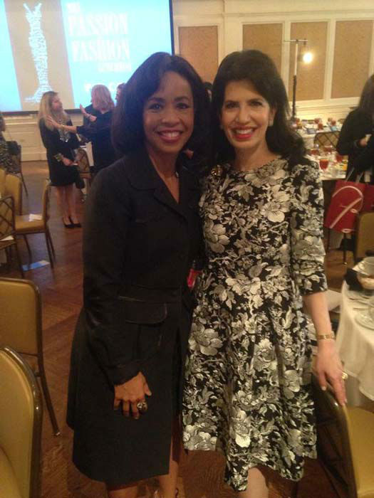 """<div class=""""meta image-caption""""><div class=""""origin-logo origin-image none""""><span>none</span></div><span class=""""caption-text"""">Gina Gaston with Dr. Kelli Cohen Fein at the Passion for Fashion luncheon (KTRK Photo)</span></div>"""