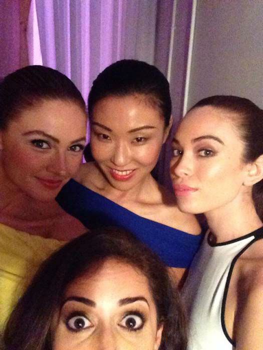 """<div class=""""meta image-caption""""><div class=""""origin-logo origin-image none""""><span>none</span></div><span class=""""caption-text"""">Sonia Azad with some of the models at the Fashion Woodlands event (KTRK Photo)</span></div>"""