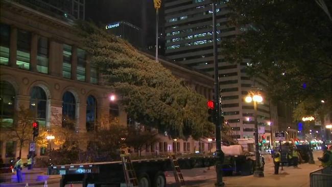 Christmas Tree Downtown Chicago.Millennium Park Abc7chicago Com