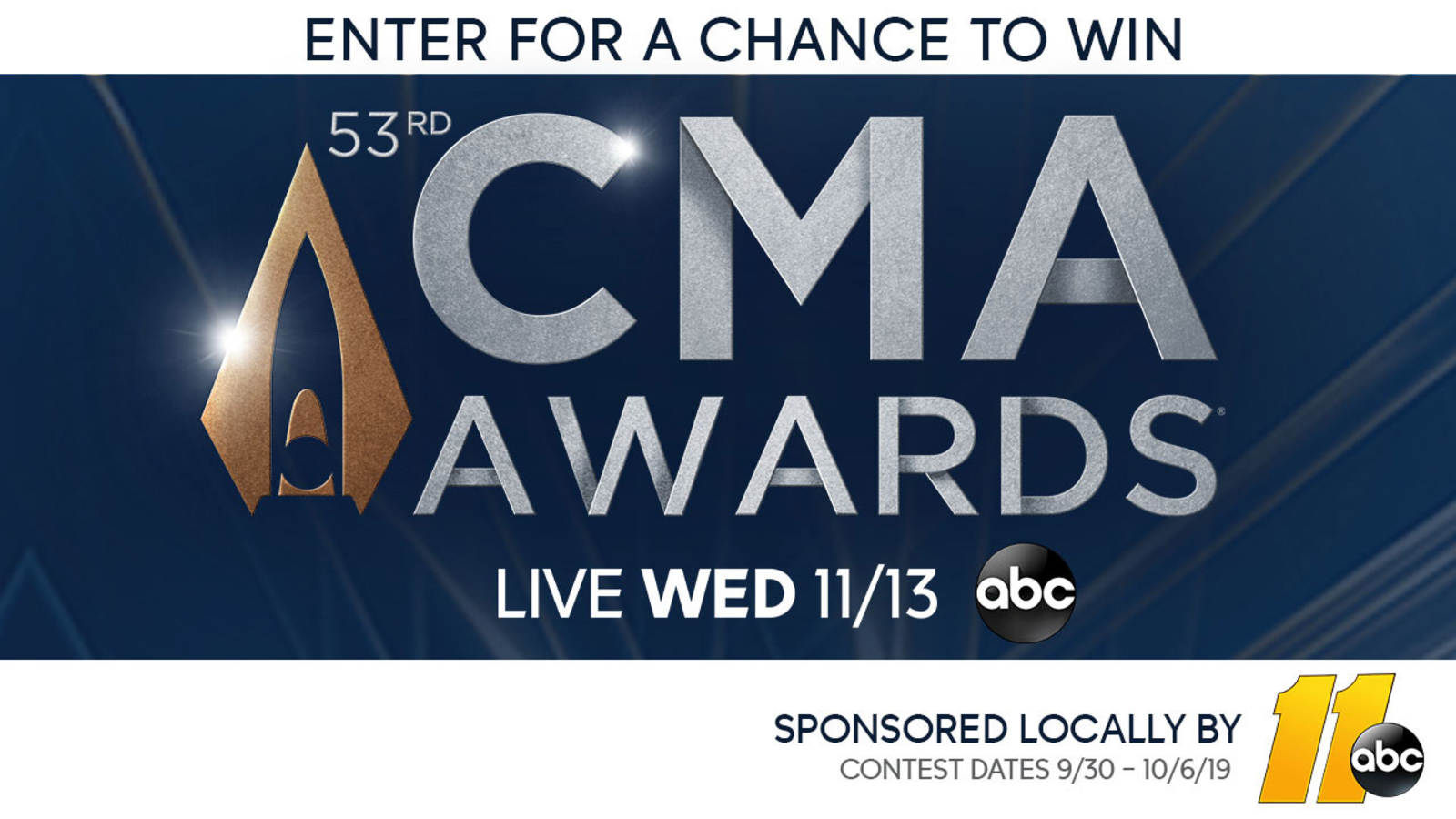 Cma Awards 2019 Sweepstakes Enter For A Chance To Win A Trip To Watch The Awards Live Abc11 Raleigh Durham