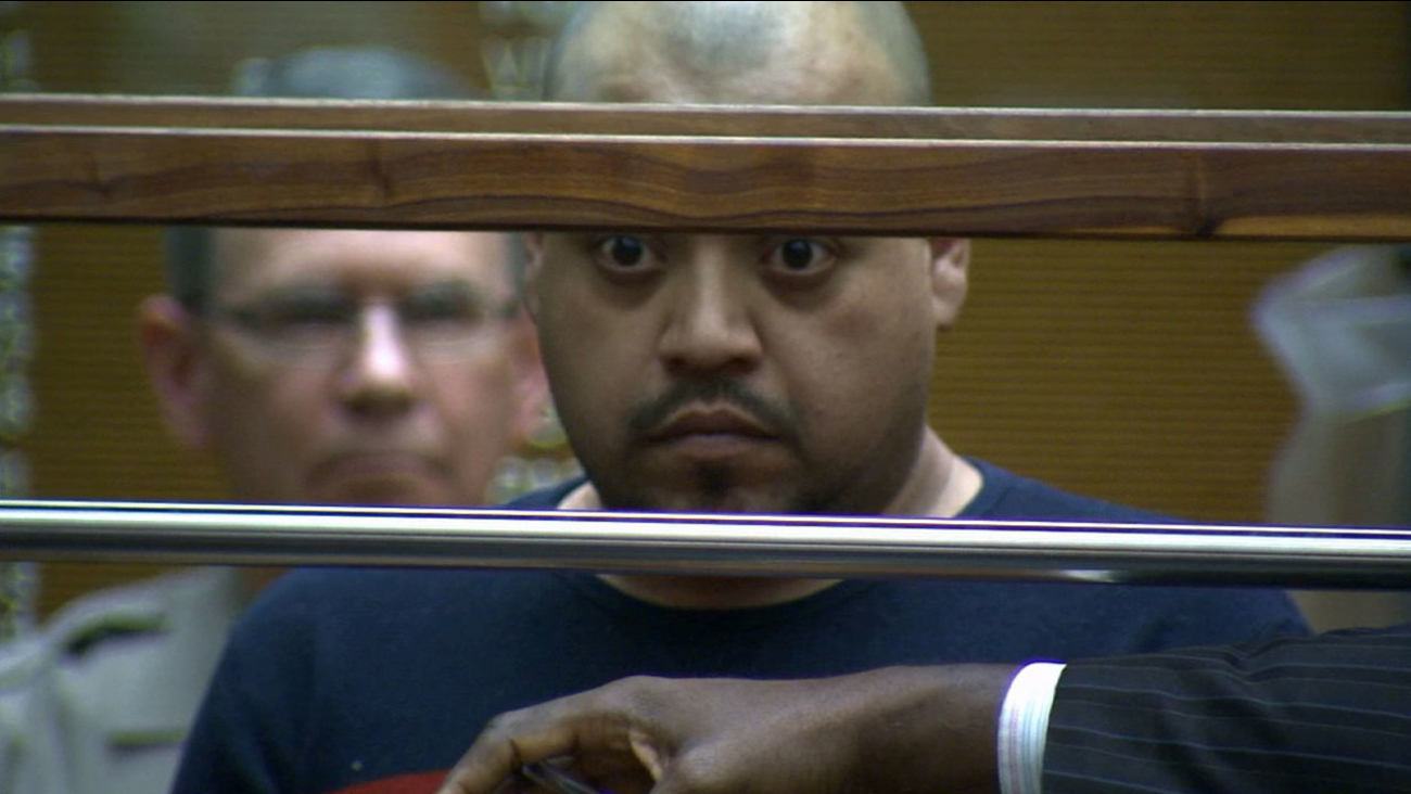 Thelmo Garcia, 37, pleaded not guilty to child abuse charges in a downtown Los Angeles courtroom Friday, March 13, 2015.