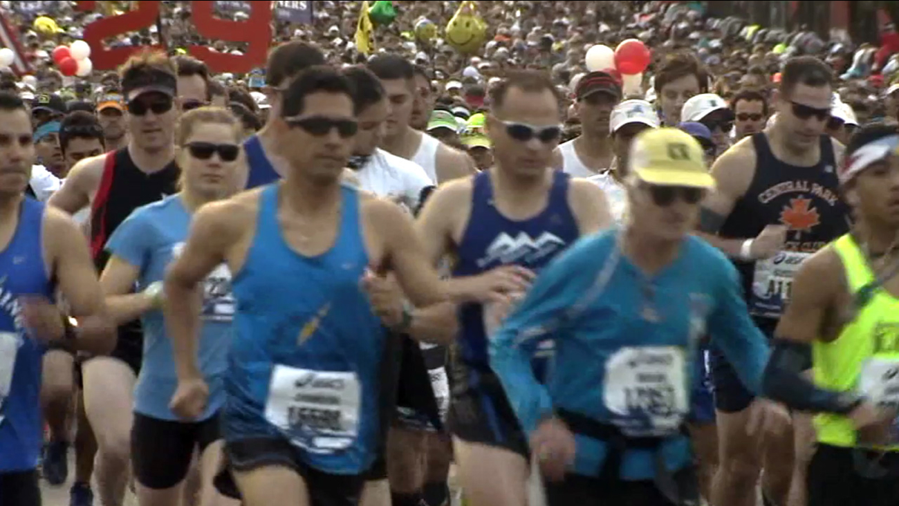 Runners participate in the 2014 LA Marathon.