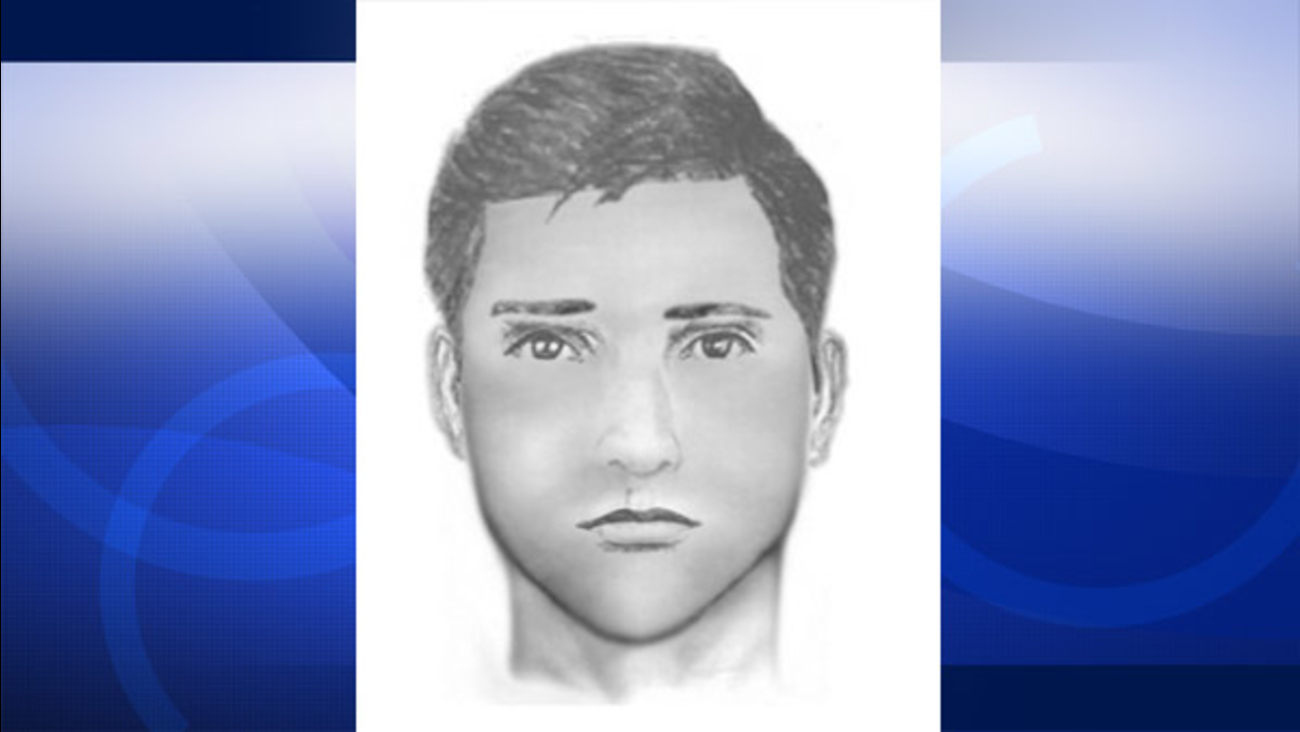 Police released a sketch of a man suspected of sexually assaulting two girls in front of their school on Friday, March 13, 2015.