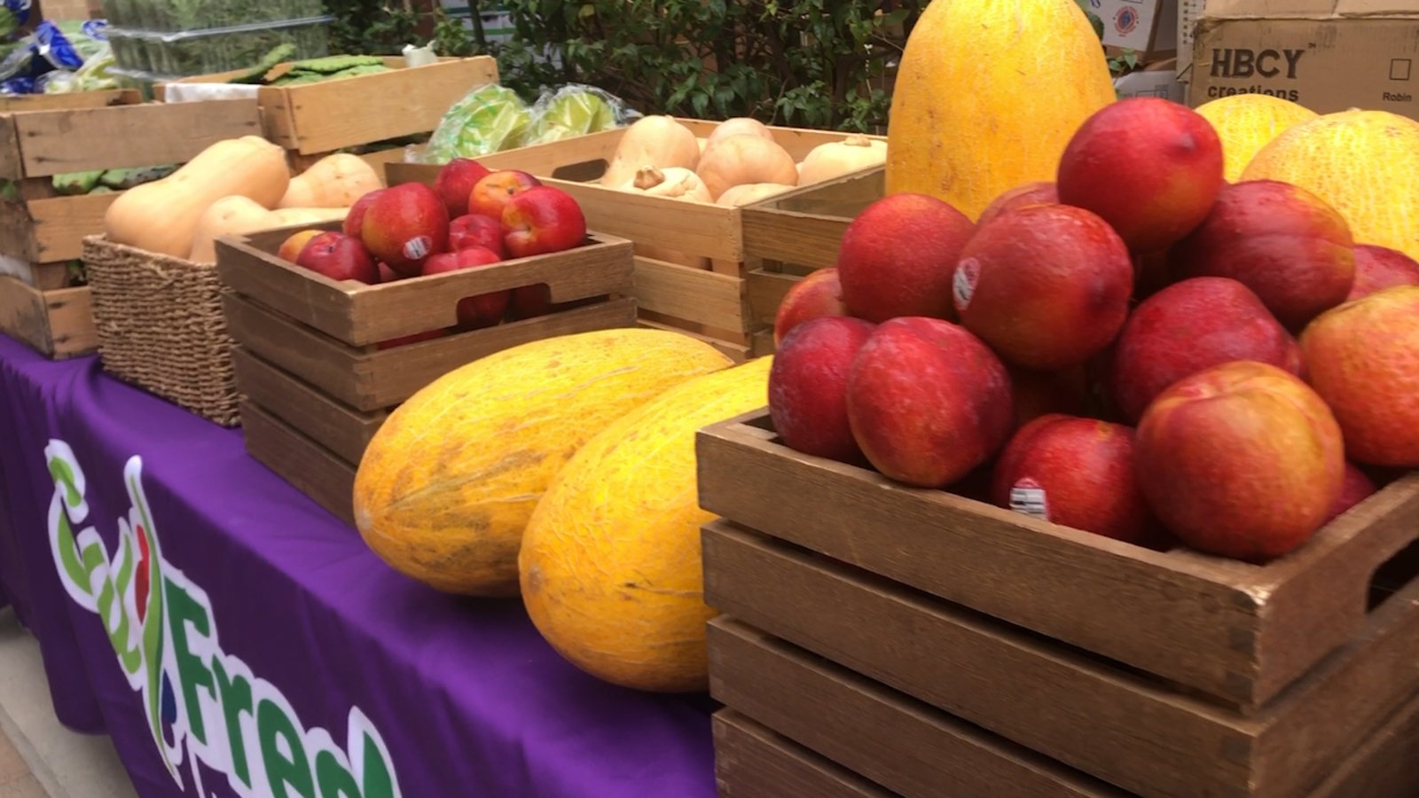 Pop-up farmers market giving free produce in the SFV
