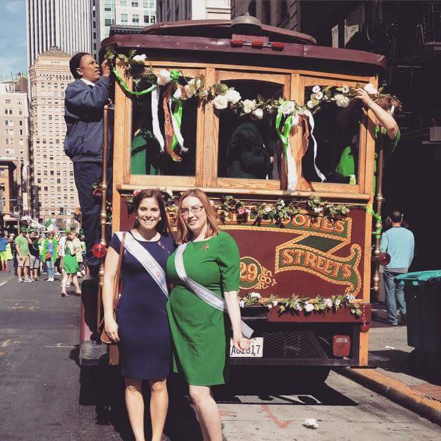 "<div class=""meta image-caption""><div class=""origin-logo origin-image kgo""><span>KGO</span></div><span class=""caption-text"">Mary Catherine Hogan and Maggie Kateri from Chicago attend the annual St. Patrick's Day Parade in San Francisco on March 14, 2015. ((Photo submitted by Mary via uReport))</span></div>"