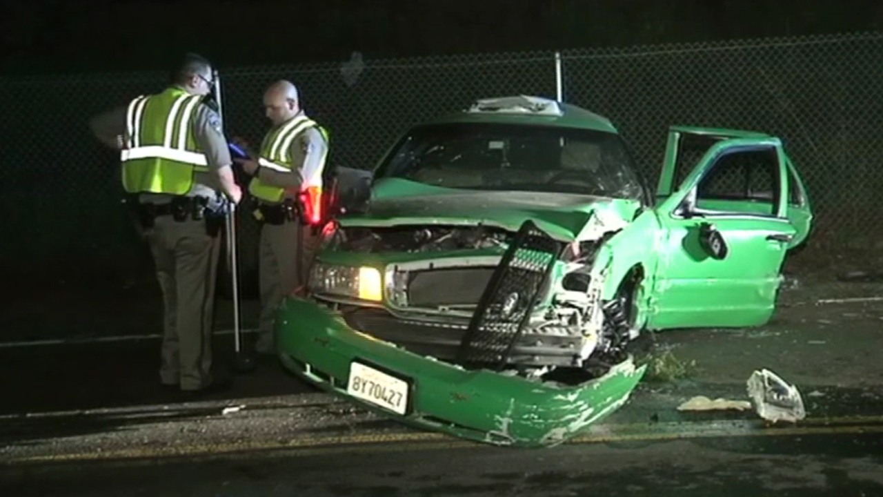 Taxi crash in Fairfield.