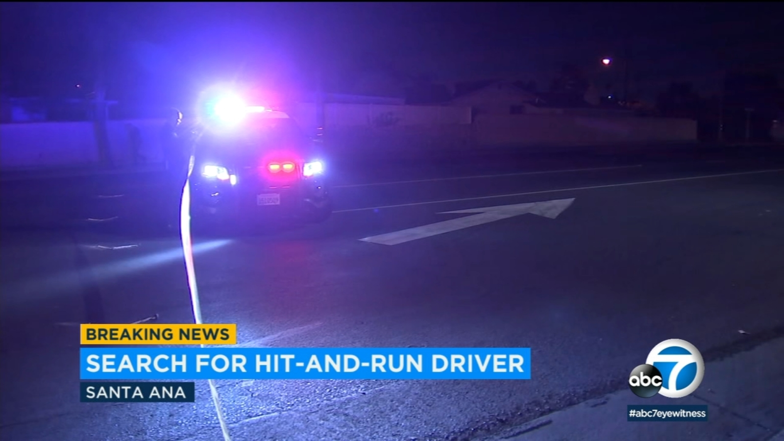 Woman struck by hit-and-run driver while walking with husband in Santa Ana, police say