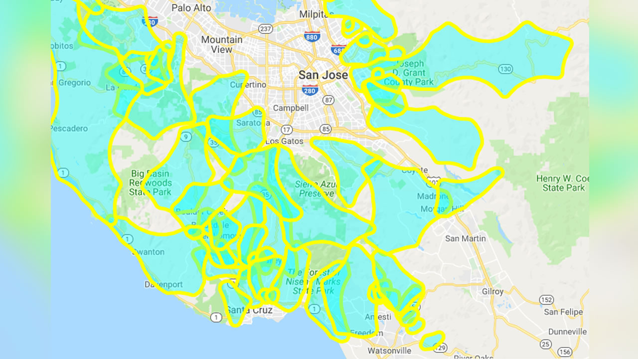 PG&E Power Outage Shut Off: Maps showing Bay Area counties ...