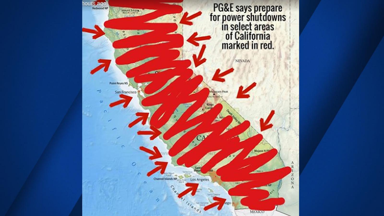 Image result for power shutdown California
