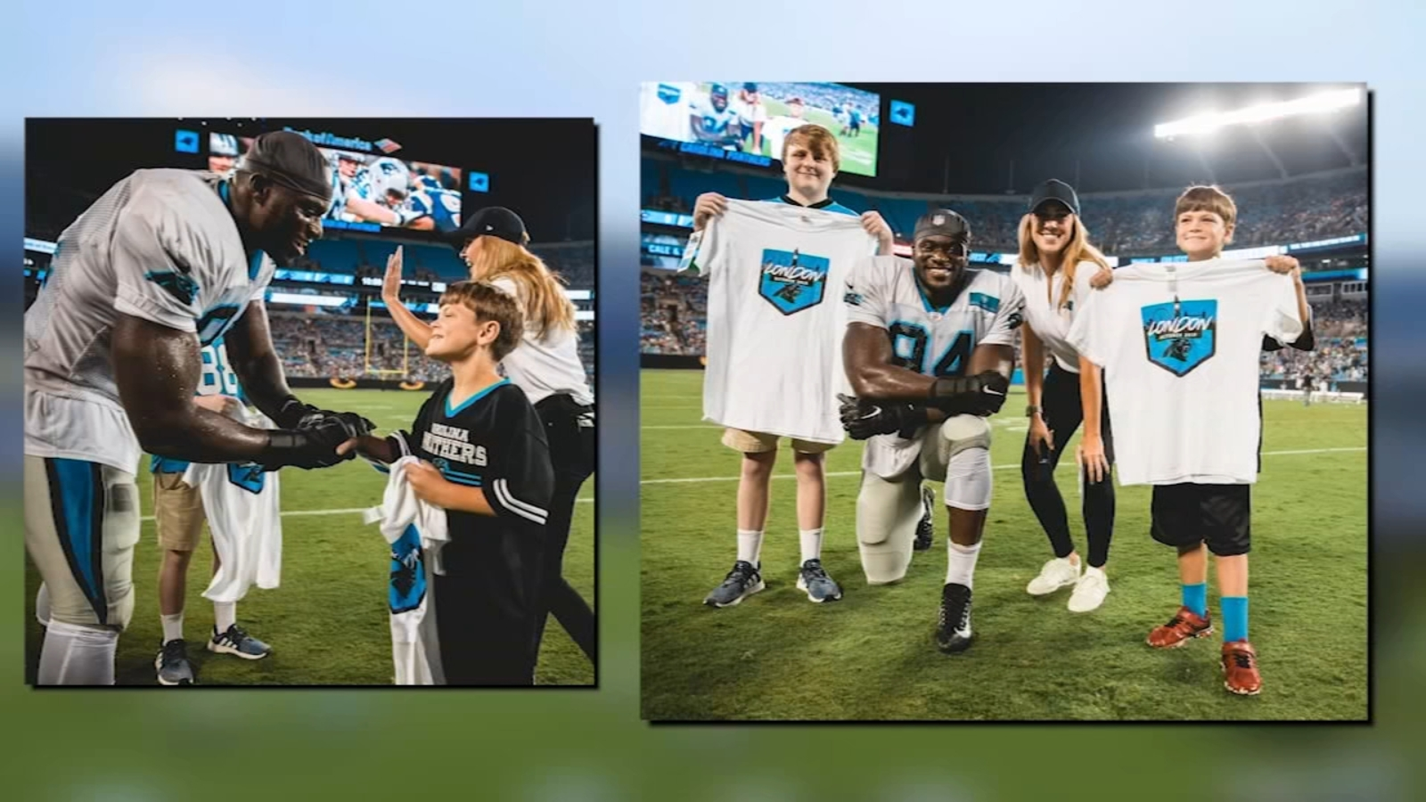 Carolina Panthers make 2 young fans wishes come true in London