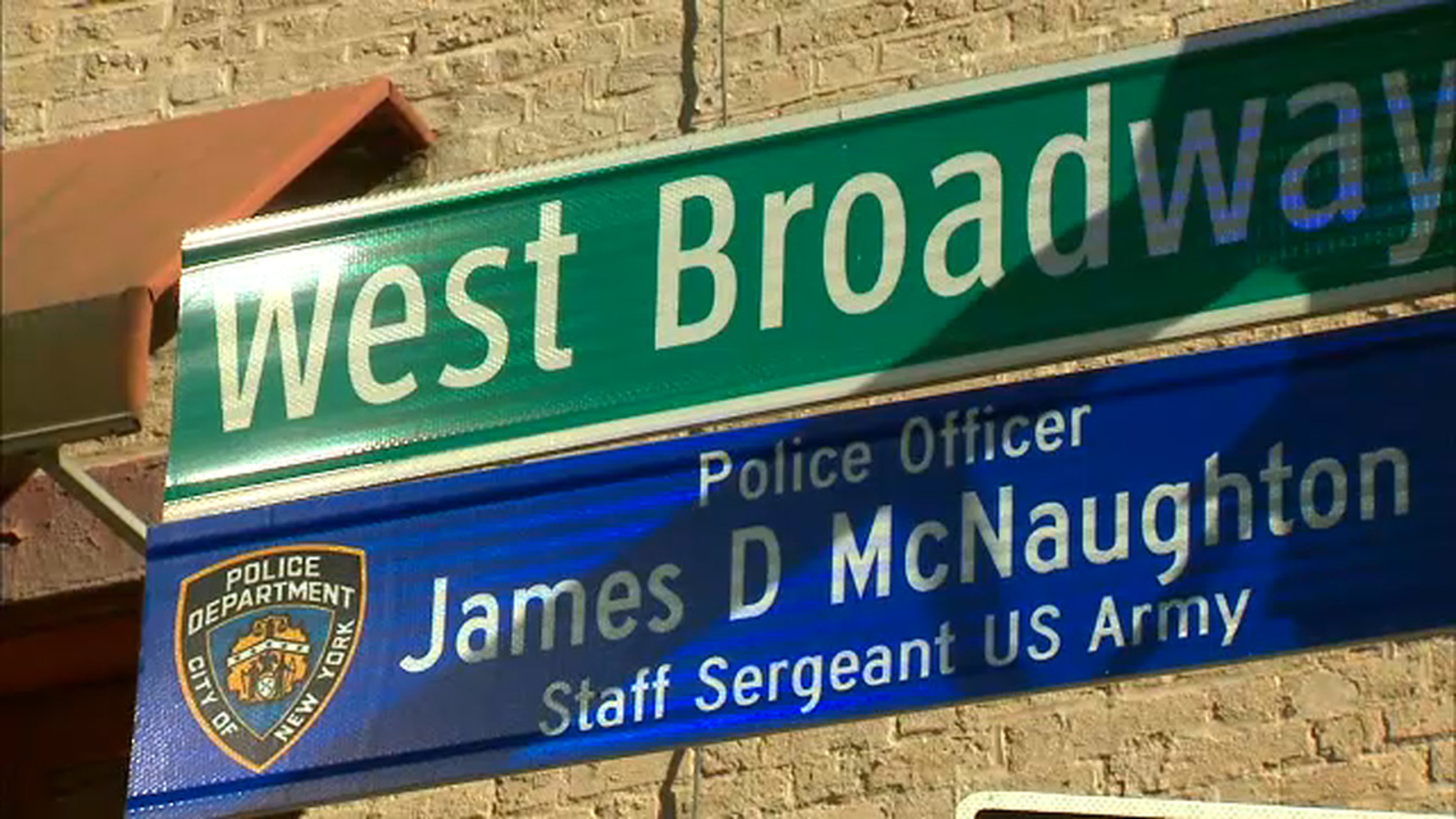 Manhattan street named after NYPD officer killed in Iraq war in 2005