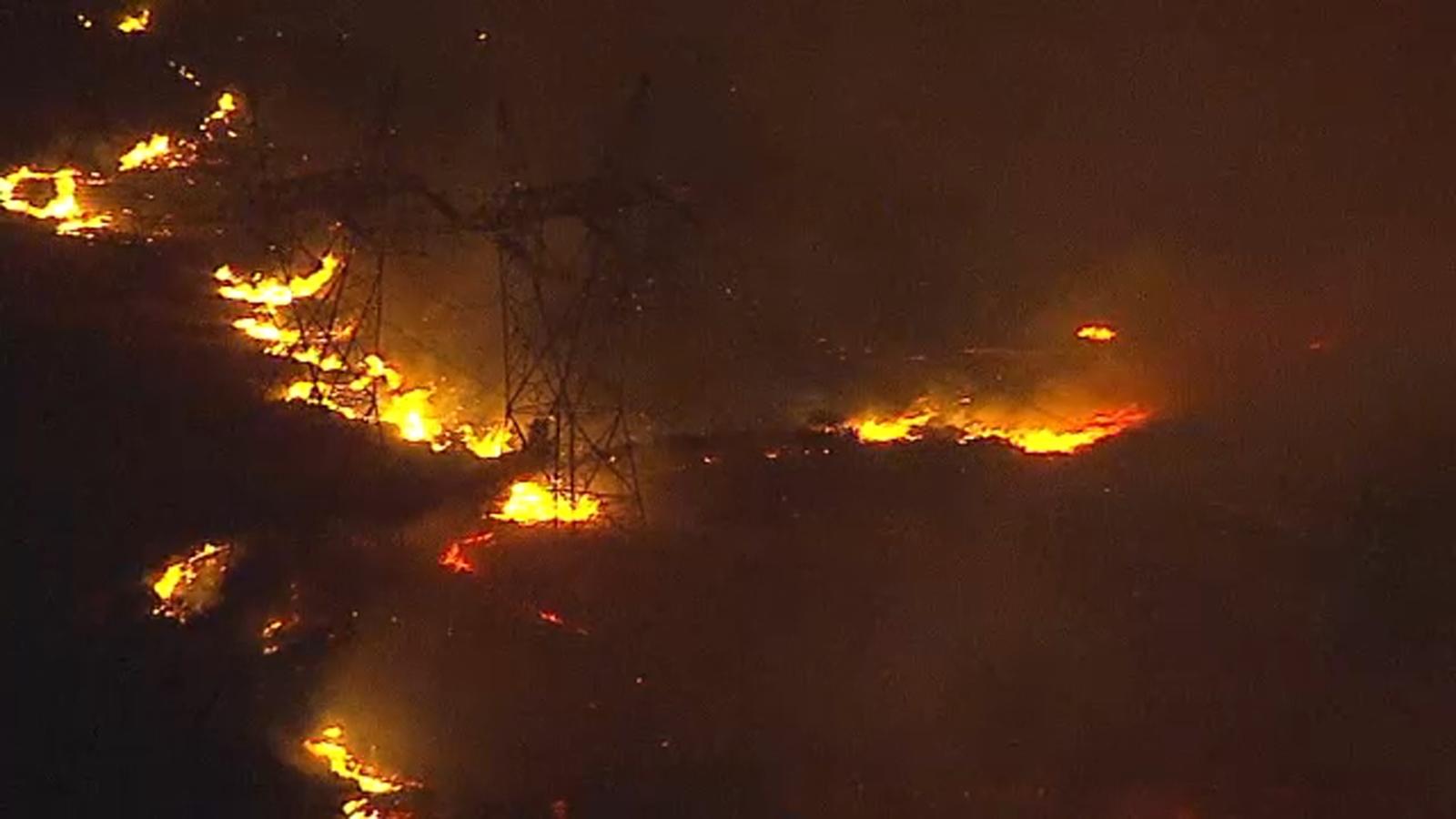 Saddleridge Fire evacuations and road closures