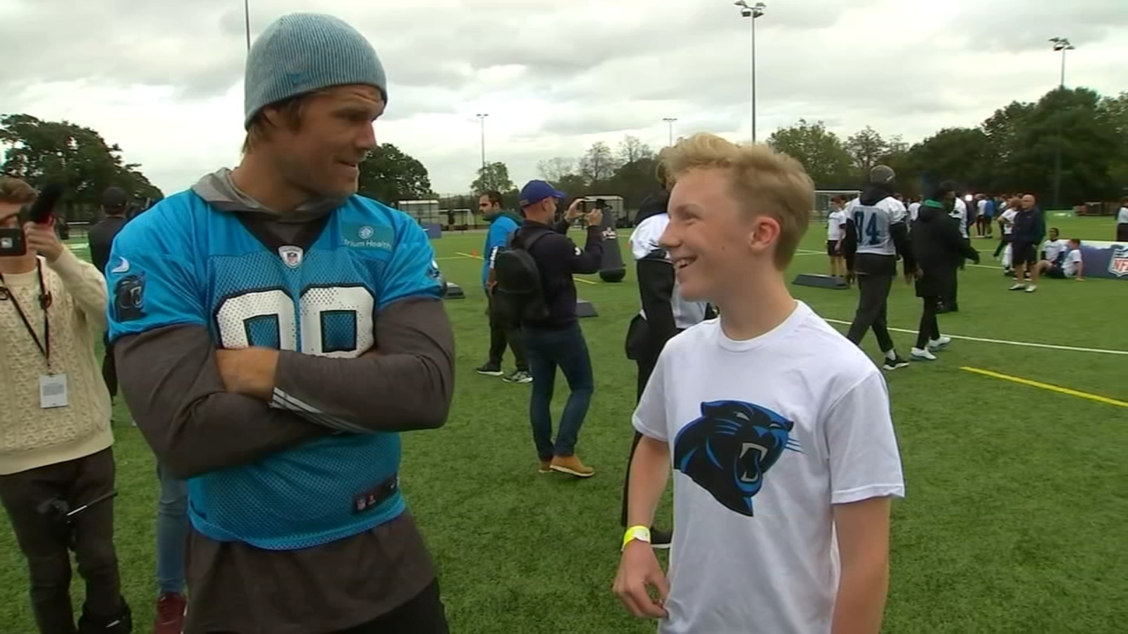 14-year-old originally from NC stunned that he got to play flag football in London with Carolina Panthers