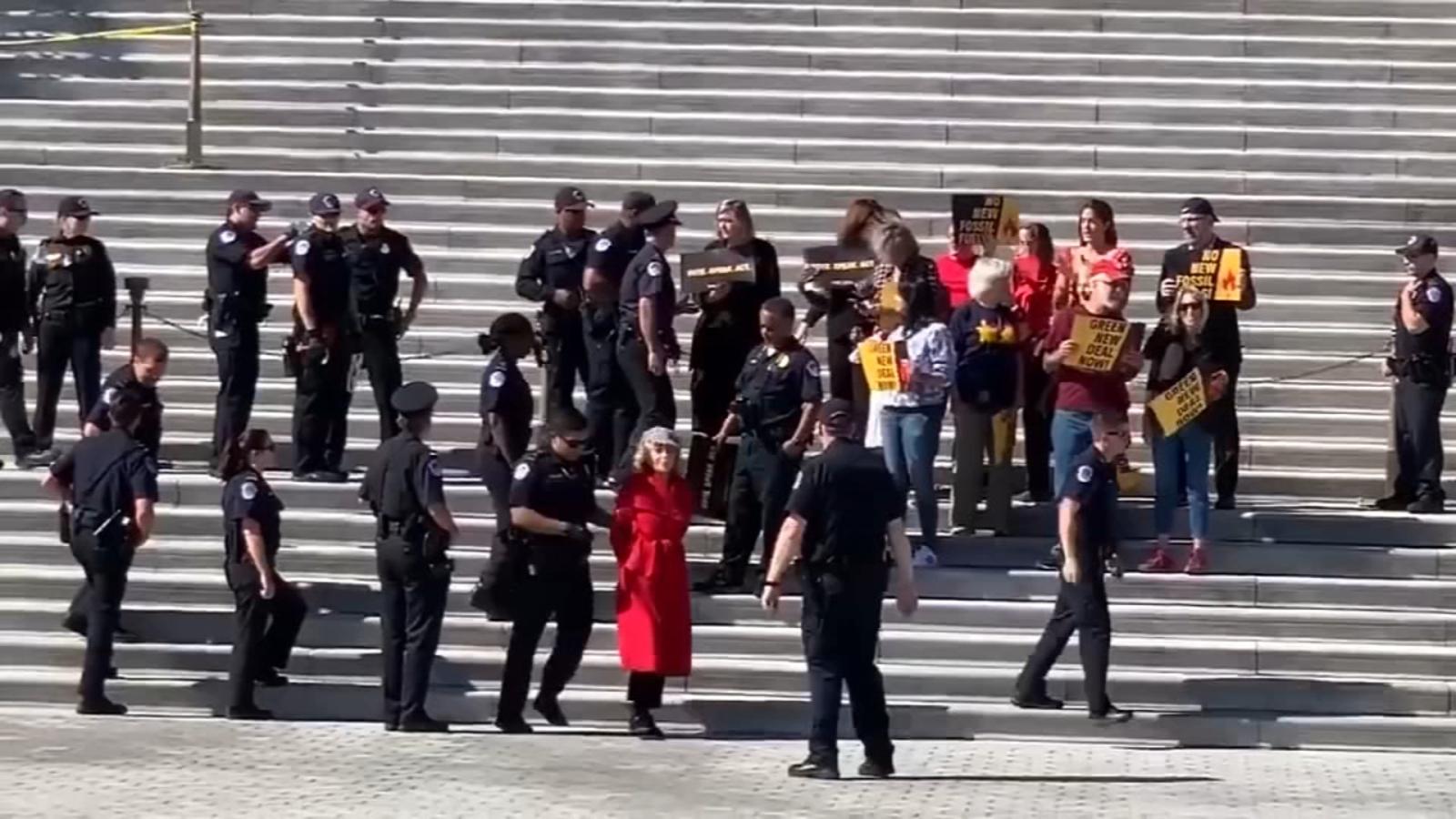 Jane Fonda arrested at climate change protest outside US Capitol - WLS-TV