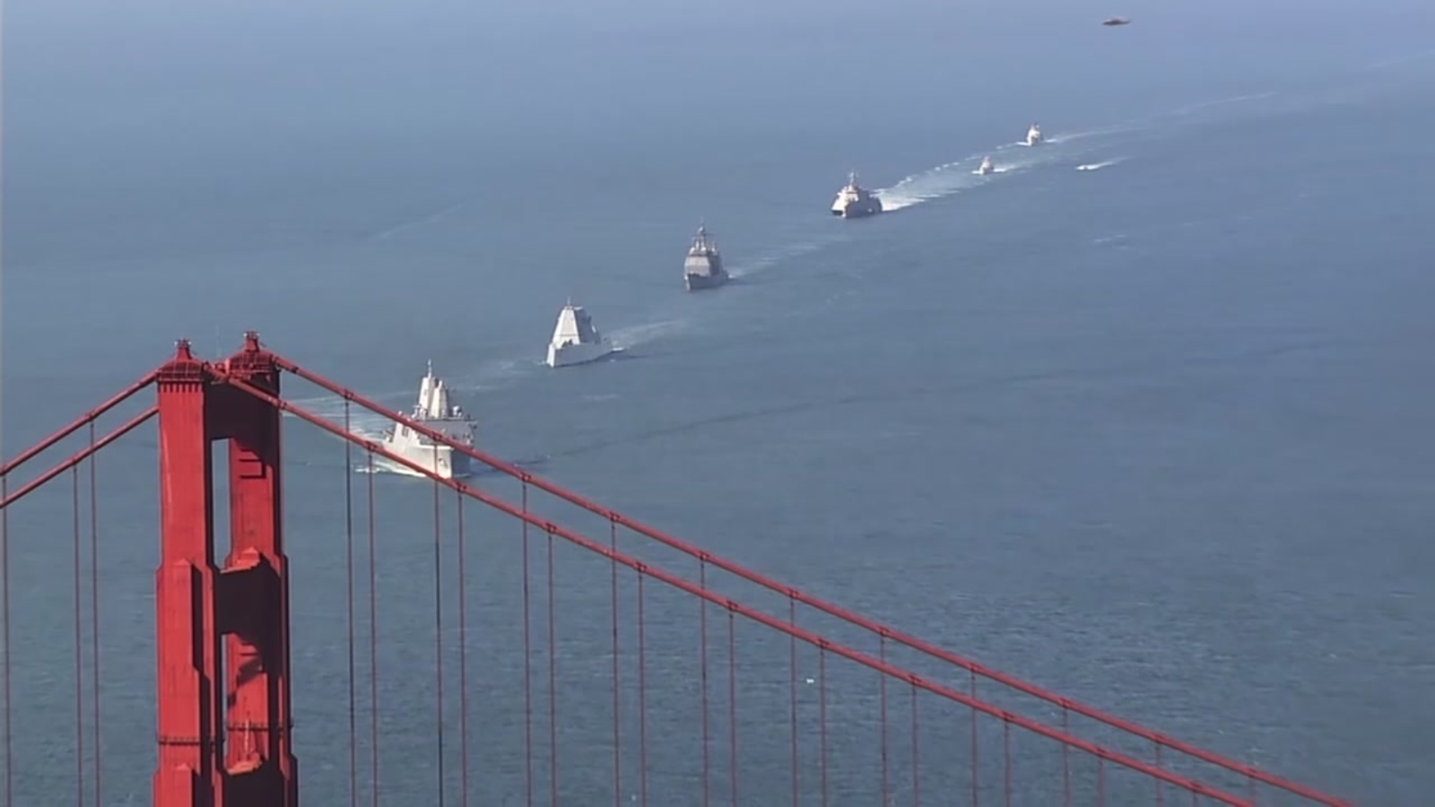 VIDEO: Ships arrive in San Francisco Bay for Fleet Week's Parade of Ships