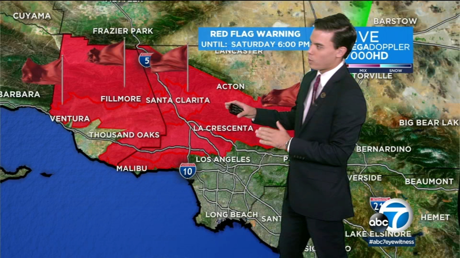 SoCal forecast: Red flag warnings remain Saturday due to Santa Ana winds, low humidity