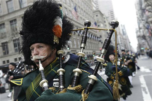 <div class='meta'><div class='origin-logo' data-origin='none'></div><span class='caption-text' data-credit='AP Photo/ Mary Altaffer'>Bagpipers march up Fifth Ave. during the St. Patrick's Day Parade, Tuesday, March 17, 2015, in New York.  (AP Photo/Mary Altaffer)</span></div>