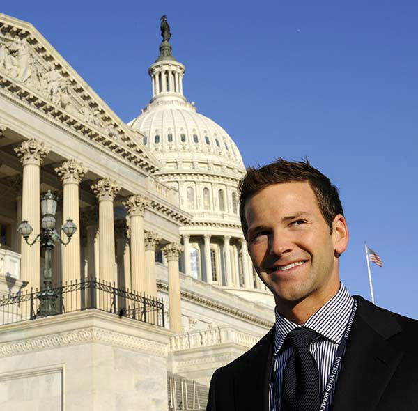 """<div class=""""meta image-caption""""><div class=""""origin-logo origin-image none""""><span>none</span></div><span class=""""caption-text"""">Rep.-elect Aaron Schock, R-Ill., stands on Capitol Hill in Washington, Monday, Nov. 17, 2008. Schock was he youngest member of the 111th Congress. (AP Photo/ Susan Walsh)</span></div>"""