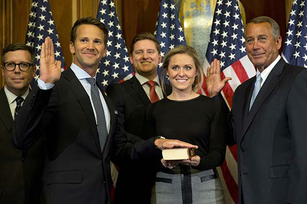 """<div class=""""meta image-caption""""><div class=""""origin-logo origin-image none""""><span>none</span></div><span class=""""caption-text"""">House Speaker John Boehner of Ohio administers a re-enactment of the House oath to Rep. Aaron Schock, R-Ill. (AP Photo/ Jacquelyn Martin)</span></div>"""