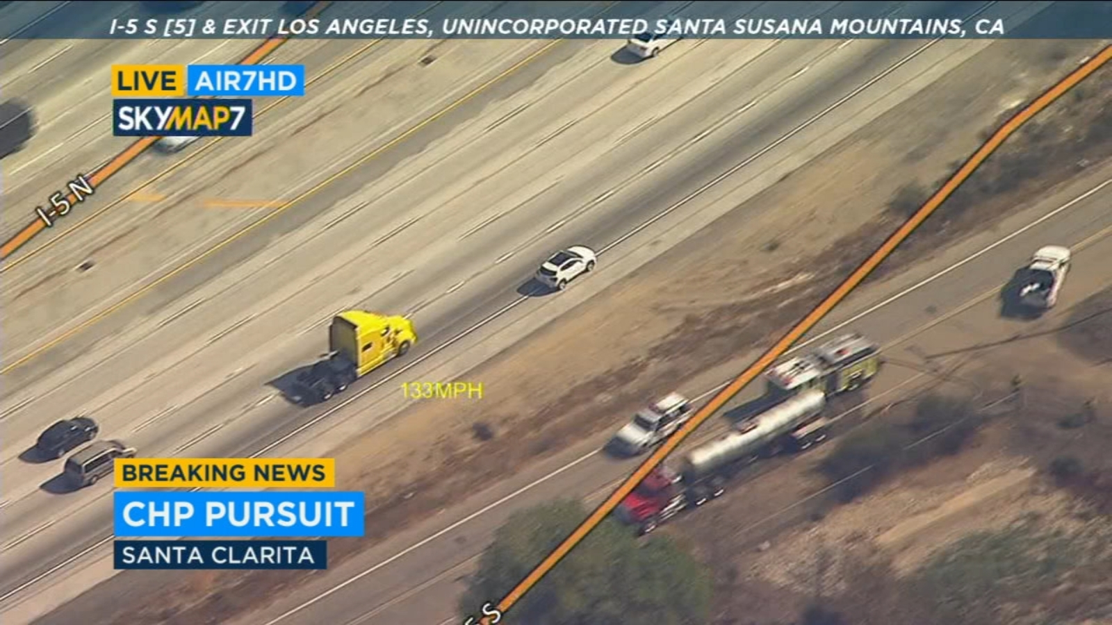 Suspect surrenders in Sylmar after leading CHP on erratic high-speed chase on southbound 5 Fwy